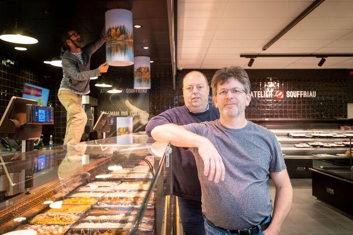 De vennoten achter de winkel: Dirk Pauwels en Koen Asselman.