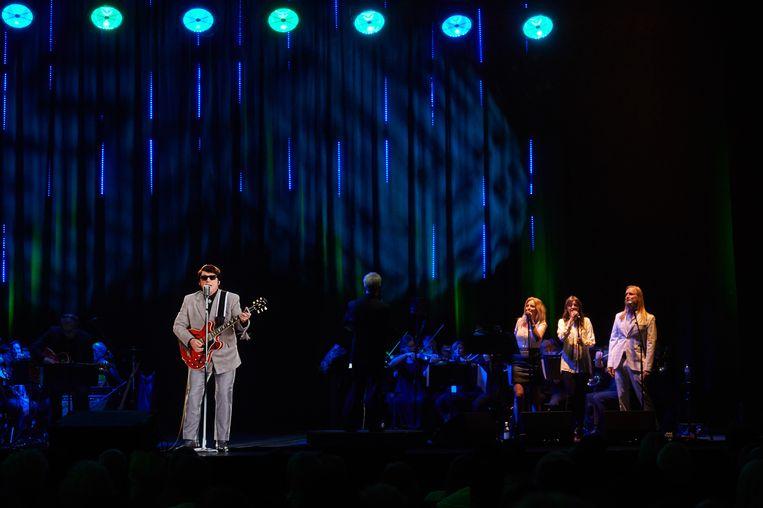 Roy Orbison als hologram in Londen, een kleine week geleden. Beeld Getty Images for BASE Holograms