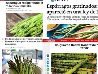 Recept voor asperges in het Belgisch Staatsblad is wereldnieuws