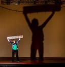 Irene Kriek op de planken waar woensdag de première van Courage zal plaatsvinden.