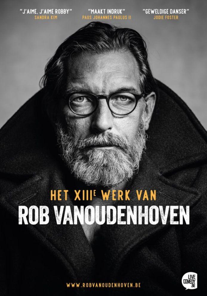De affiche van de nieuwe zaalshow van Rob Vanoudenhoven.
