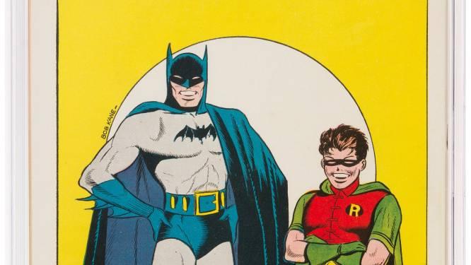 Batman-strip uit 1940 voor recordbedrag onder de hamer
