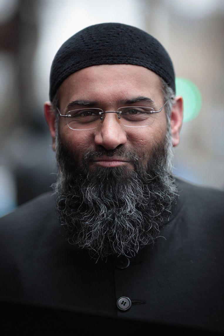 Anjem Choudary, een van de invloedrijkste jihadistische predikers in Europa, is het brein achter de Sharia-4-beweging. Beeld null
