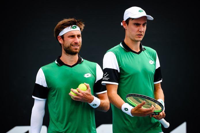 Eliminés dès le premier tour de l'Open d'Australie, Sander Gillé et Joran Vliegen retrouvent des couleurs à Singapour.