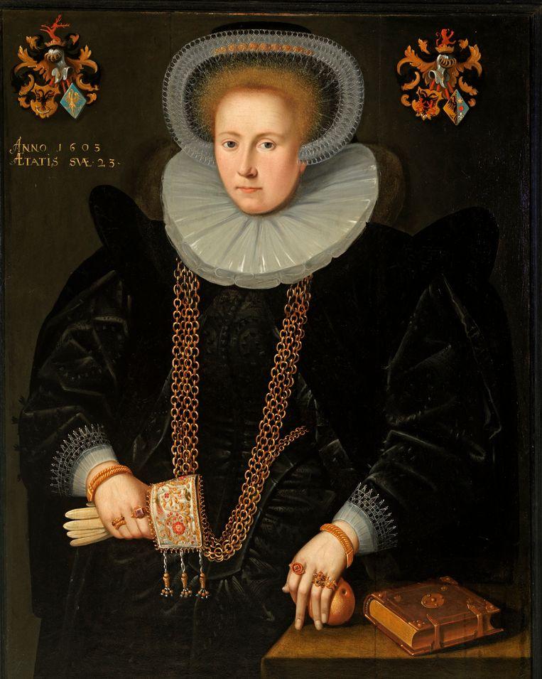 Portret van His Hesselsdr. van Eminga (1603). Beeld Fries Museum