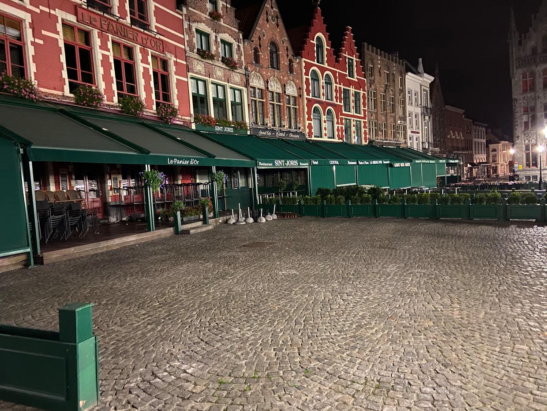 Brugge in tijden van een nachtklok. Beeld Mathias Mariën