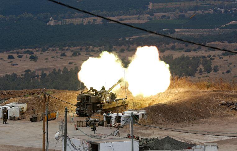Israël beantwoordde vorige week het geweld van Libanese zijde. Beeld Atef Safadi/EPA