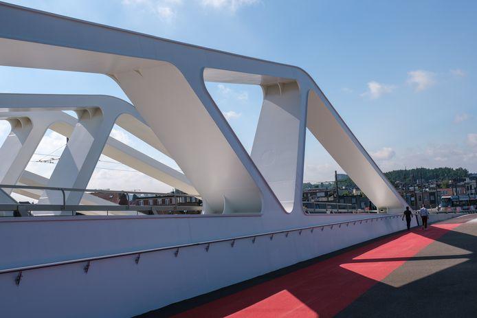 De brug werd vervangen door hoger exemplaar, waar schepen met vier lagen containers wél onder kunnen.