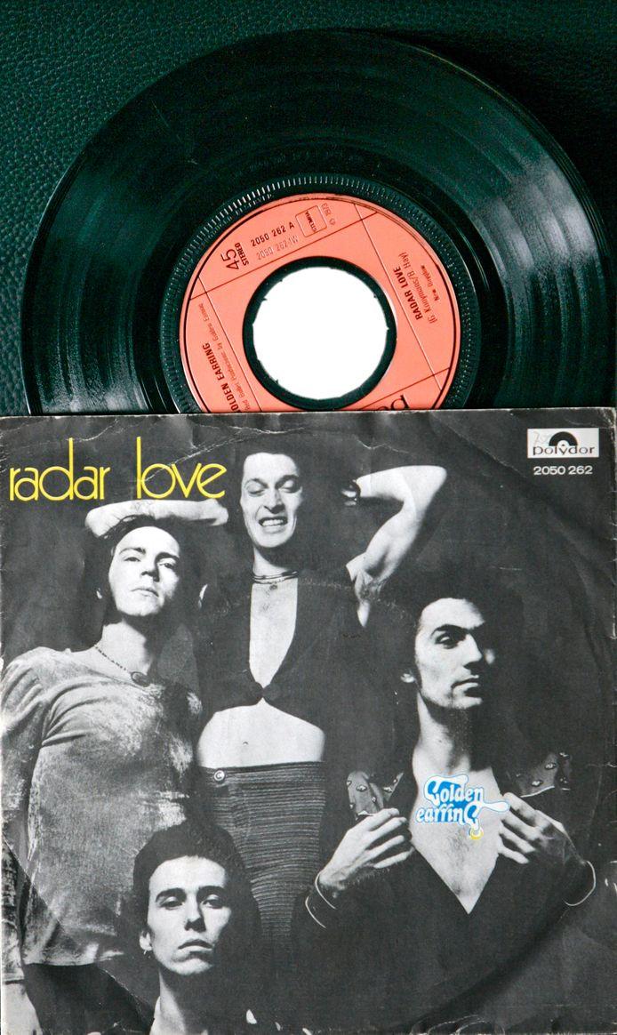 Originele single van Radar Love in de verzameling van museum RockArt in Hoek van Holland.