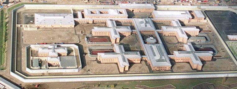 Luchtfoto van Belmarsh Prison uit 1990. Beeld epa