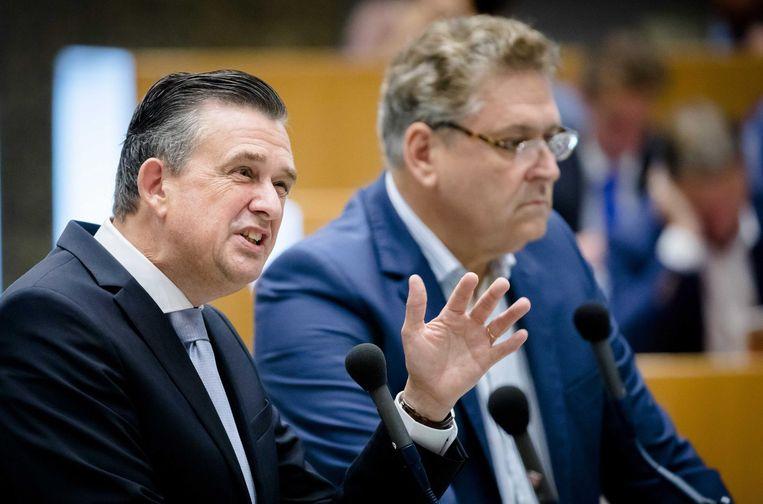 SP-leider Emile Roemer naast 50Plus-leider Krol. Beeld anp