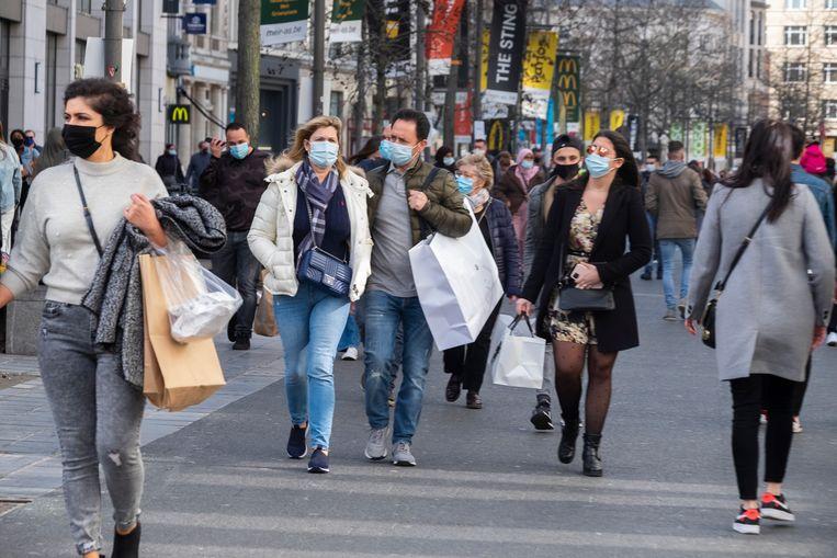De Belgische economie kende vorig jaar de sterkste daling sinds de Tweede Wereldoorlog. Beeld Klaas De Scheirder