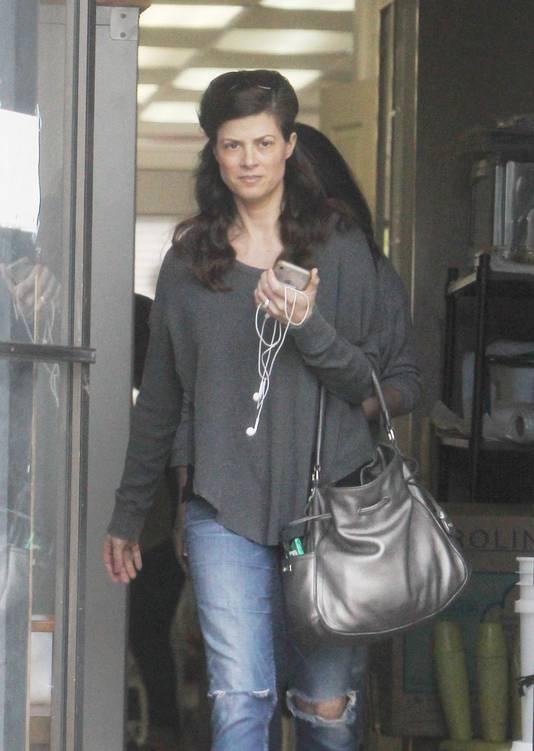 Wendy Madison Bauer, dans un salon de manucure à Los Angeles, cette semaine