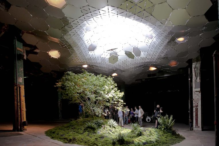 Lowline in New York is het eerste ondergrondse park ter wereld. Via een ingenieus systeem is men erin geslaagd om natuurlijk zonlicht op de flora te laten schijnen. Beeld dm