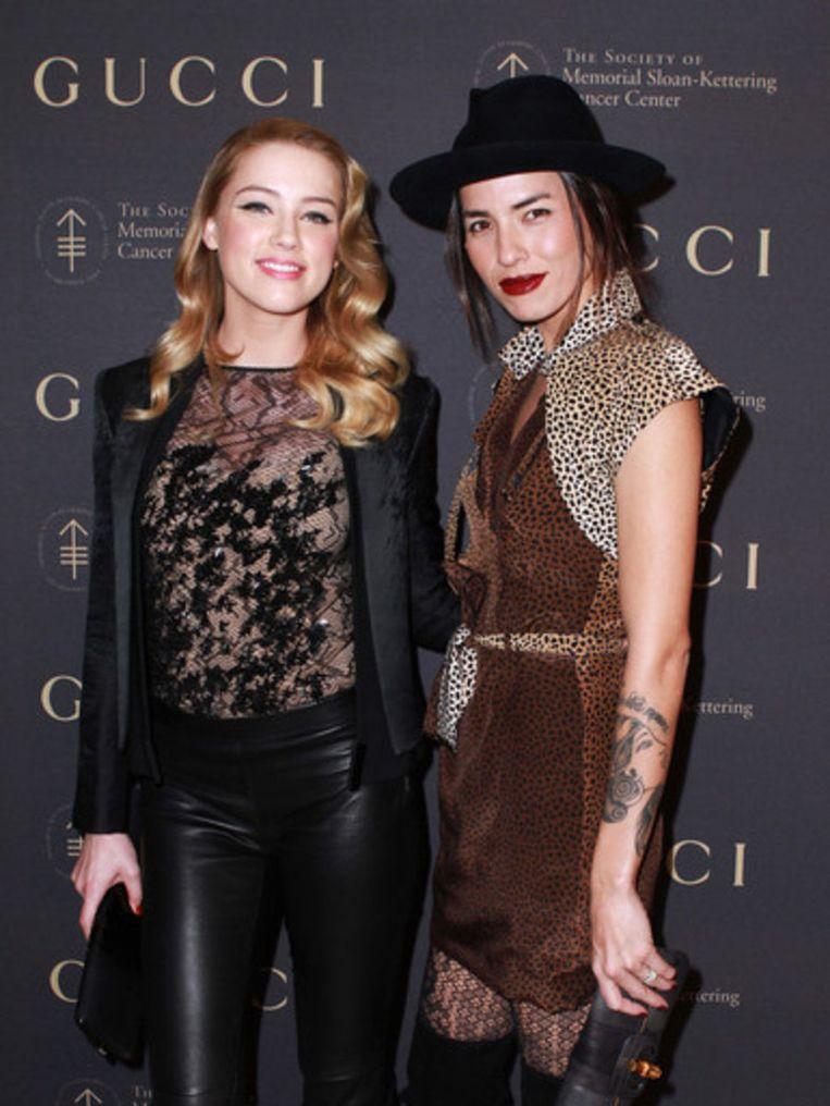 Amber Heard en Tasya Van Ree. Beeld UNKNOWN