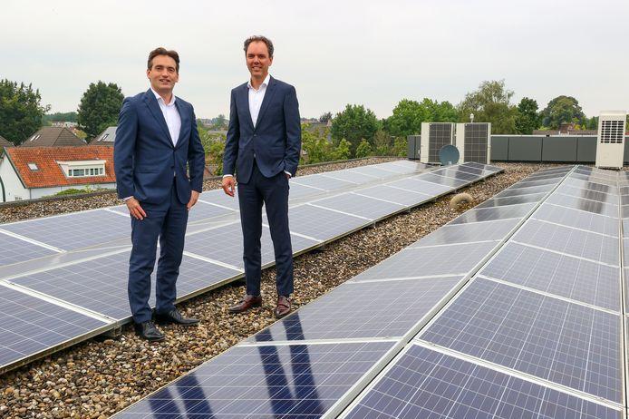 Directieleden Rob van Gennip (rechts) en Frank van Gastel van Scholt Energy in Valkenswaard.