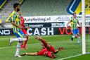 Sylla Sow zorgt tegen FC Twente voor de gelijkmaker van RKC.