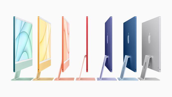 De desktopcomputer heeft verder een nieuw ontwerp gekregen met dezelfde rechte zijkanten en afgeronde hoeken als de nieuwste iPhones en is verkrijgbaar in zeven kleuren.