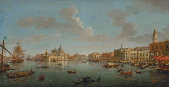 Gezicht op het Bacino San Marco, Caspar van Wittel, 1712.