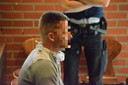 Tommy Jonckheere op het beklaagdenbankje tijdens z'n eerste proces in de Brugse correctionele rechtbank.