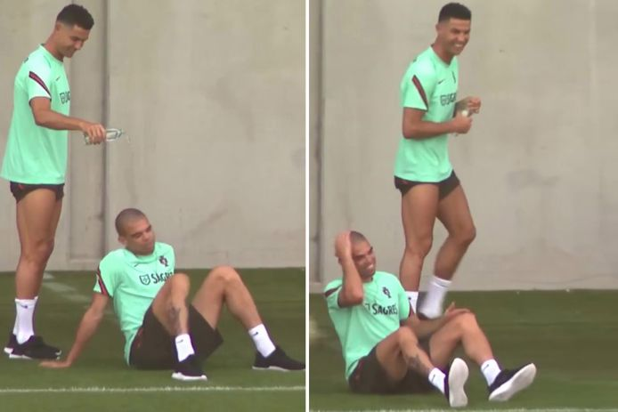 Cristiano Ronaldo leeft ontspannen toe naar de clash met de Rode Duivels.