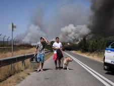 Duizenden vluchten voor oprukkende natuurbrand Athene