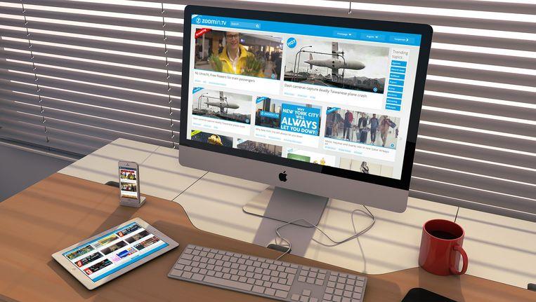 De eigen videosite van Zoomin.tv. De producent is voor bijna 45 miljoen euro grotendeels overgenomen door de Zweedse uitgever MTG. Beeld Zoomin