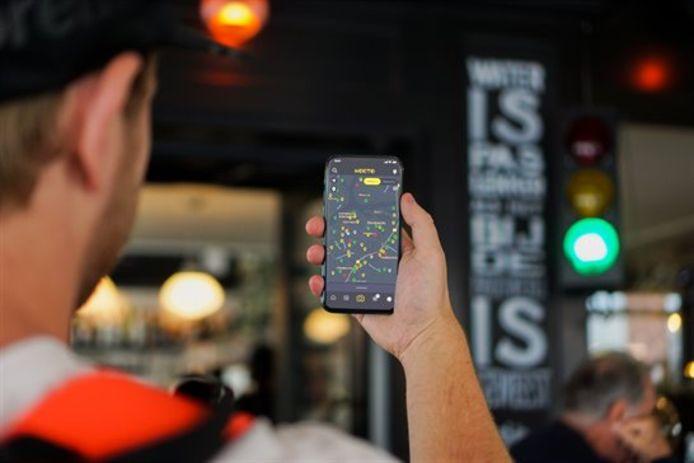 Via een gratis app kun je binnenkort vanuit huis al zien of je in je favoriete restaurant kunt eten of drinken.