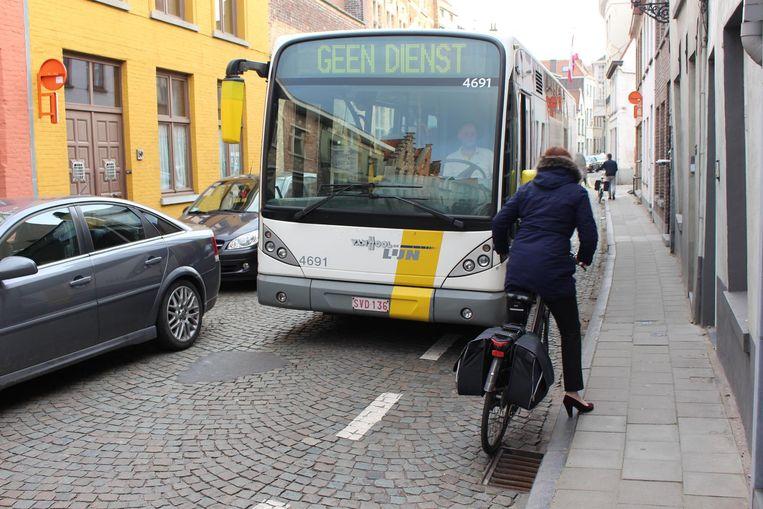 Bussen in de Sint-Jorisstraat: een vertrouwd zicht