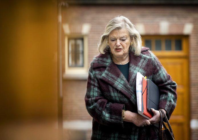 Ankie Broekers- Knol, demissionair staatssecretaris van Justitie en Veiligheid.