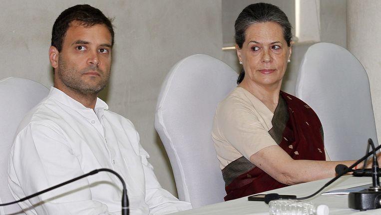 Rahul en Sonia Gandhi. Beeld EPA