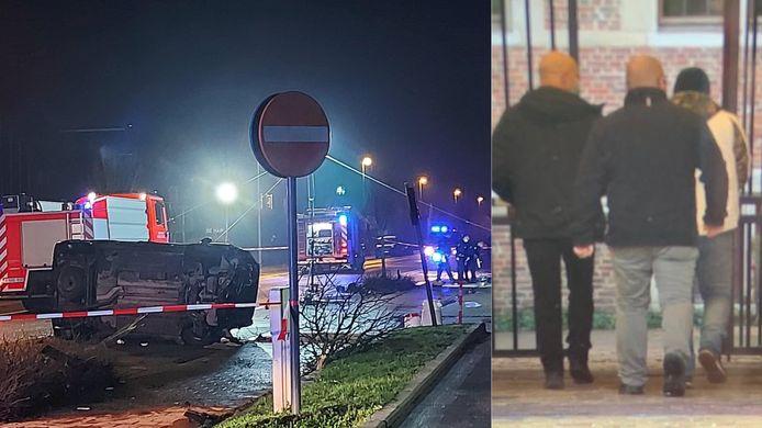 I.M.C. (rechts) veroorzaakte twee ongevallen en pleegde nadien een carjacking