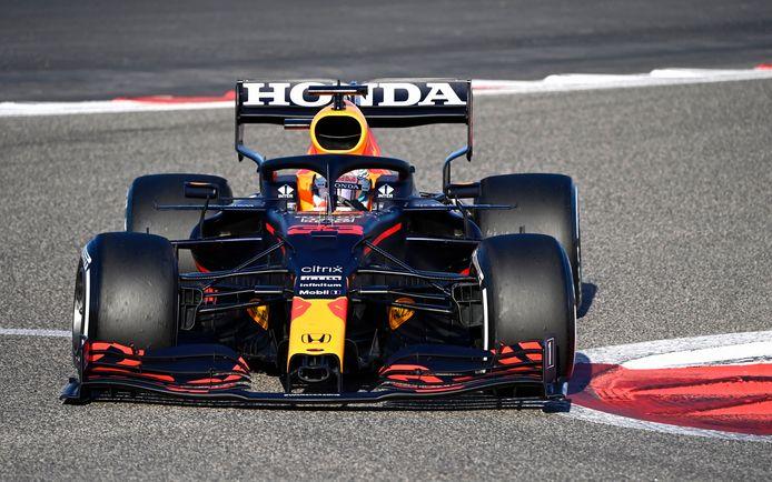 Verstappen zette de snelste tijd van het testweekend neer.
