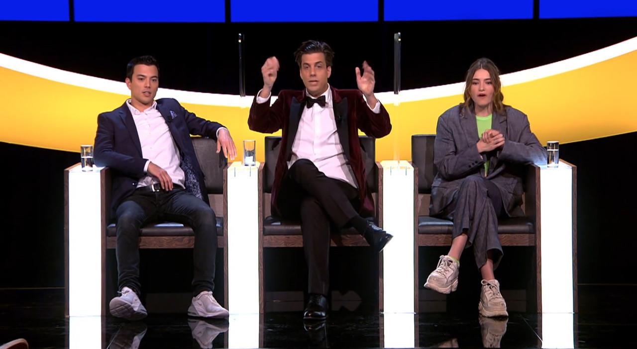 DE drie finalisten van De slimste mens