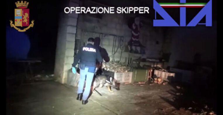 De Italiaanse politie heeft in Operatie Skipper 26 arrestaties verricht. Aldo G. uit Amsterdam wordt gezien als het kopstuk. Beeld DIA