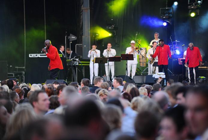 The Trammps jaren geleden tijdens een optreden in Nederland. In september swingen en zingen ze in Liempde