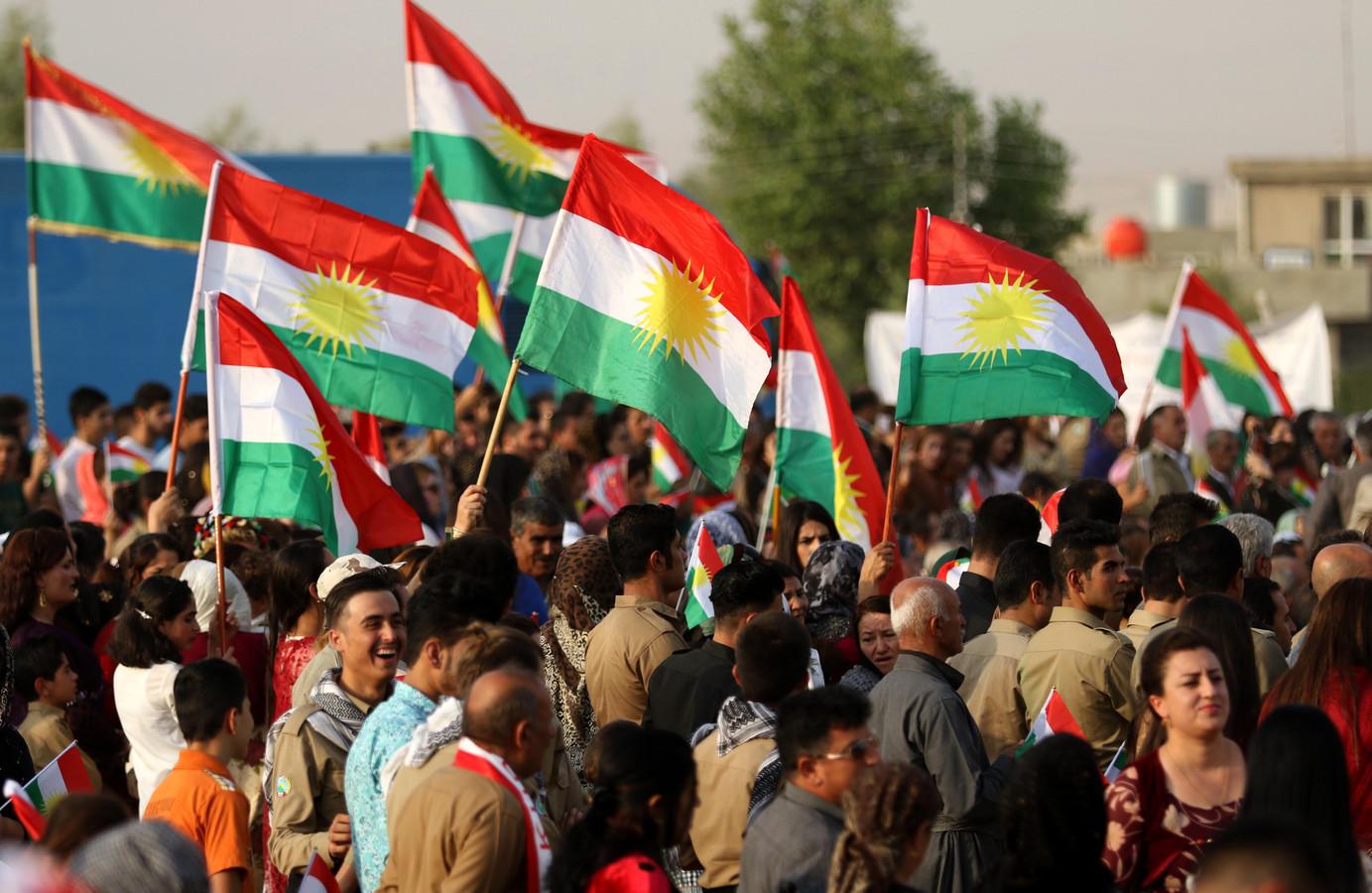 Overal in Iraaks-Koerdistan vieren Koerden feest in aanloop naar het referendum.