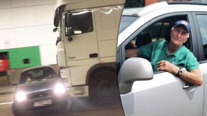 """Rik (88) liet zich aanrijden om truck te stoppen, die wagen meesleurde: """"Jij bent dé held van de Craeybeckxtunnel"""""""