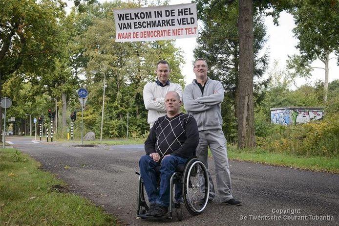 V.l.n.r.: Nody Holkamp, Arjan Spenkelink en Hans van Dijk.