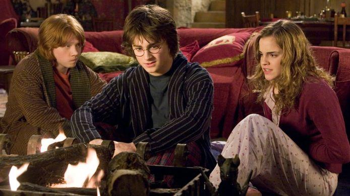 Harry Potter, Ron en Hermelien.