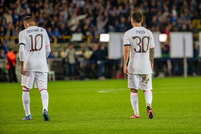 Neymar en Lionel Messi konden hun stempel niet drukken.