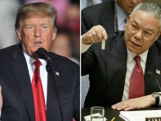 """Trump hekelt """"mooie"""" berichtgeving in de media over pas overleden Colin Powell"""