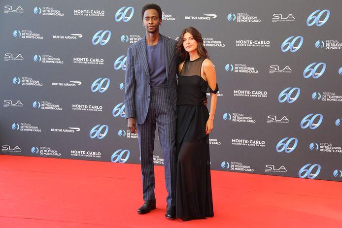 Edi Gathegi et sa femme Adriana Marinescu.