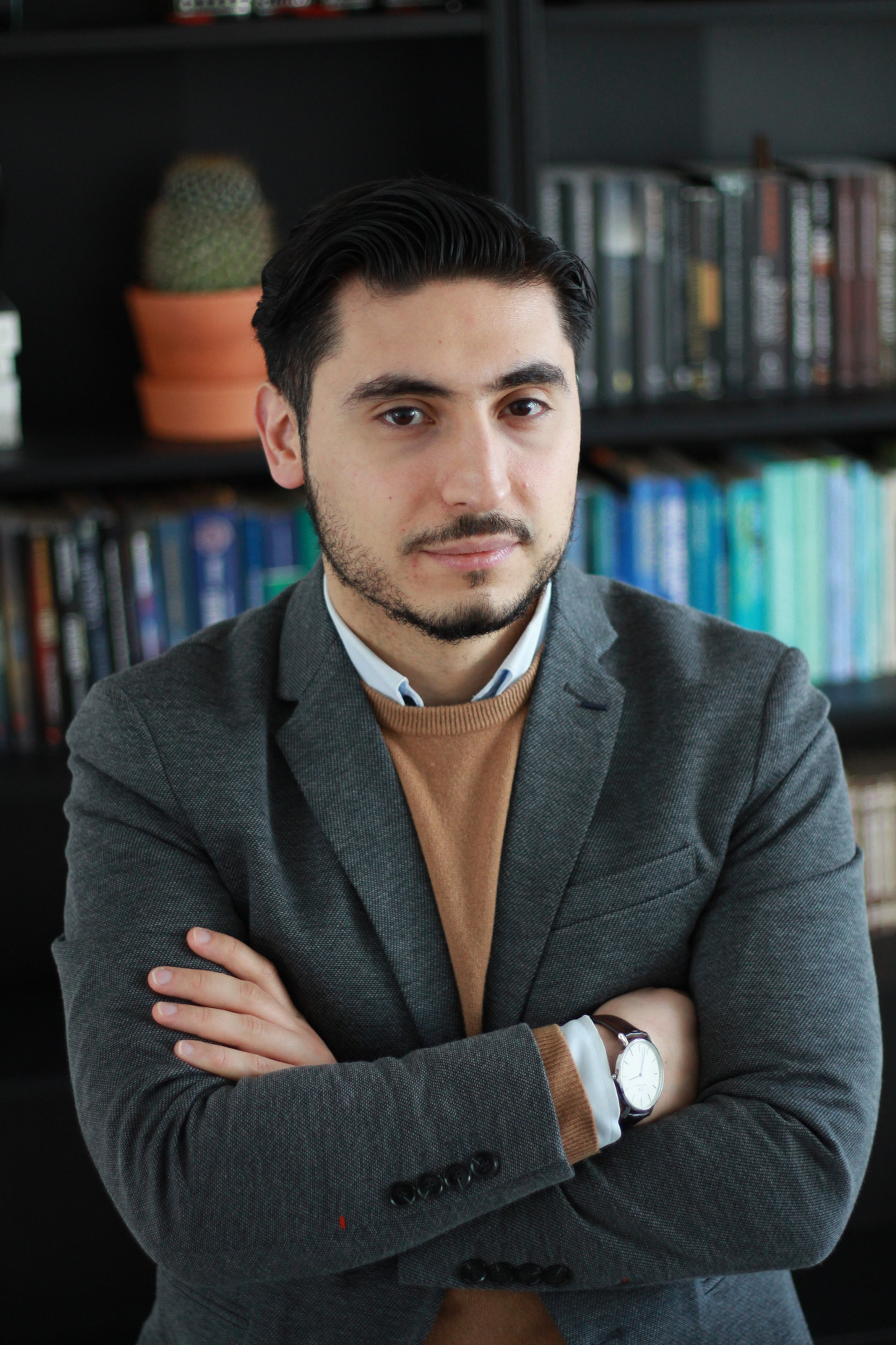 Ömer Karaca, woordvoerder van Milli Görüs. Beeld -