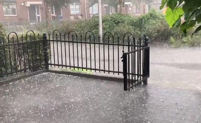 Hagel in Hoogland