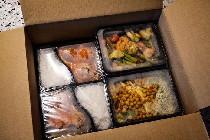 Een maaltijdbox van HNGRY.