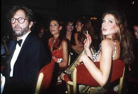 Eric Clapton en Carla Bruni in 1992.