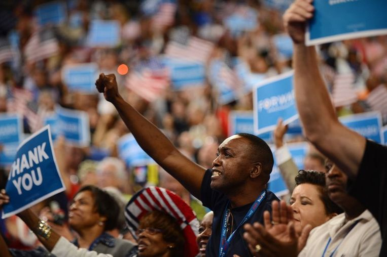 Supporters van Obama. Beeld afp