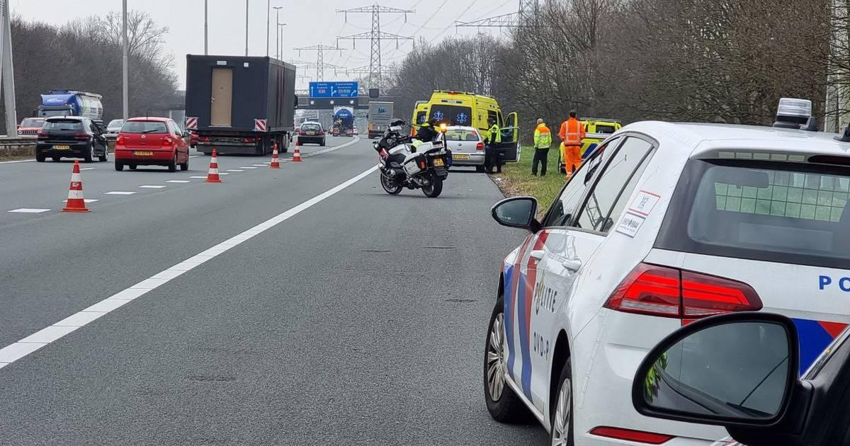 File door ongeluk op A35 tussen Enschede en Almelo.