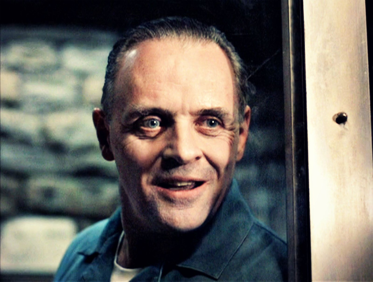 Anthony Hopkins in The Silence of the Lambs (1991). Beeld